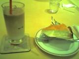 [ミルクレープとアイスカフェラテのケーキセット]
